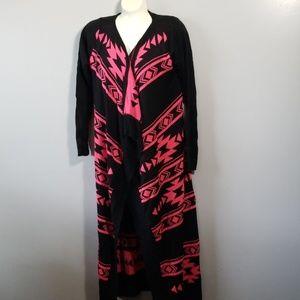California Gypsy Long Sweater Duster Cardigan